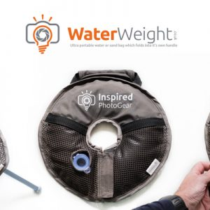 The WaterWeight - Ultra portable water or sand bag which folds into it's own handle